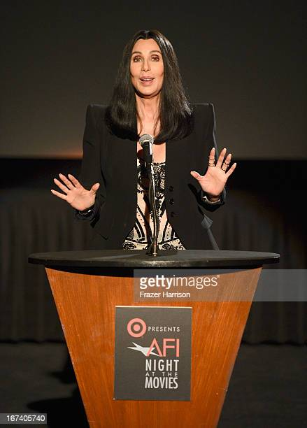 Singer/actress Cher presenting Moonstruck at Target Presents AFI's Night at the Movies at ArcLight Cinemas on April 24 2013 in Hollywood California