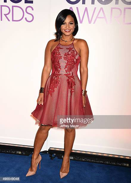Singer/actress Christina Milian attends the People's Choice Awards 2016 nominations press conference at The Paley Center for Media on November 3 2015...