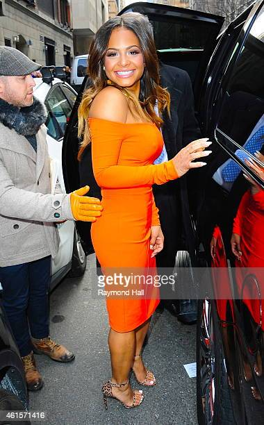 Singer/Actress Christina Milian is seen outside wendy williams show on January 15 2015 in New York City