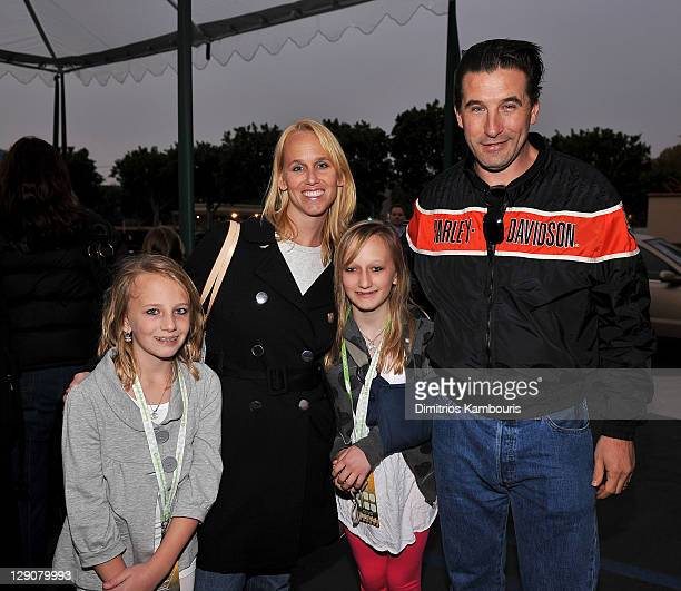 Singer/actress Chynna Phillips actor Billy Baldwin and family at Chevy Rocks The Future at the Buena Vista Lot at The Walt Disney Studios on February...