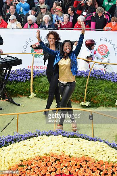 Singer/actress Coco Jones participates in the 124th Tournamernt of Roses Parade on January 1 2013 in Pasadena California