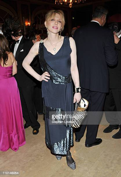 Singer/actress Courtney Love attends Save Venice 2011 Un Ballo in Maschera at the Grand Ballroom at The Plaza Hotel on March 15 2011 in New York City