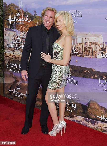 Singer/actress Debbie Gibson and Dr Rutledge Taylor attend the Hallmark Channel and Hallmark Movies and Mysteries Summer 2016 TCA press tour event at...