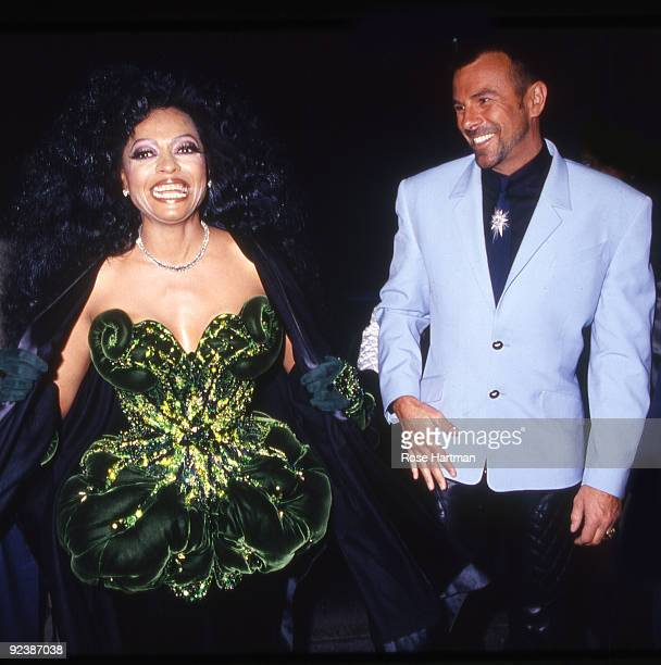 Singer/actress Diana Ross and designer Thierry Mugler at Angel perfume launch at Saks 5th Ave New York