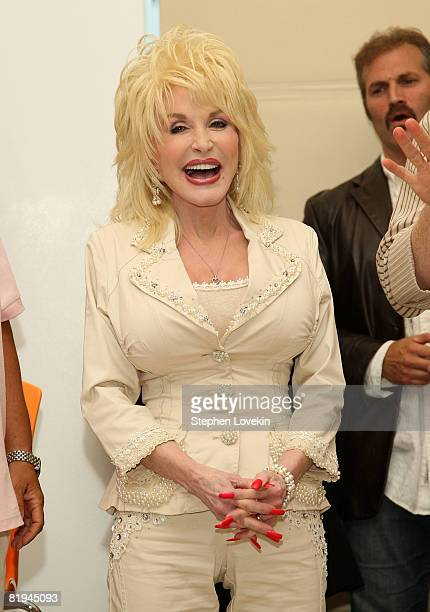 Singer/actress Dolly Parton attends the 9 to 5 The Musical press conference at The New 42nd Street Studios July 15 2008 in New York City