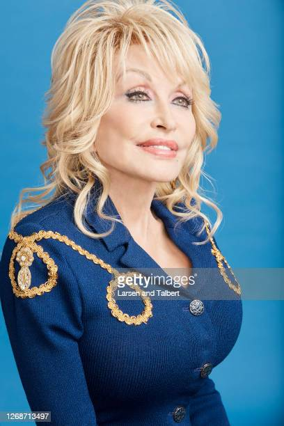 Singer/actress Dolly Parton is photographed for Guidepost Magazine on March 12 2020 at Dollywood's DreamMore Resort in Pigeon Forge Tennessee