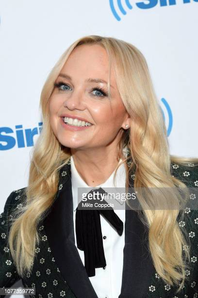 Singer/actress Emma Bunton poses for a photo during her visit to SiriusXM Studios on December 04, 2018 in New York City.