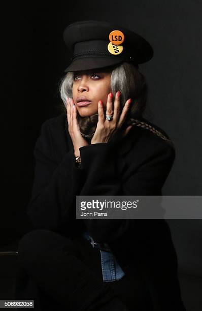 Singer/actress Erykah Badu from the film 'The Land' posed for a portrait during The Hollywood Reporter 2016 Sundance Studio At Rock Reilly's Day 4...