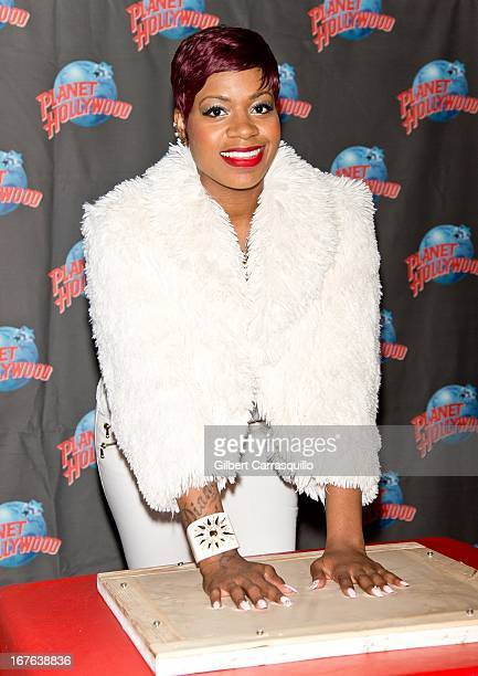 Singer/actress Fantasia Barrino promotes her fourth studio album Side Effects Of You with a handprint ceremony at Planet Hollywood Times Square on...
