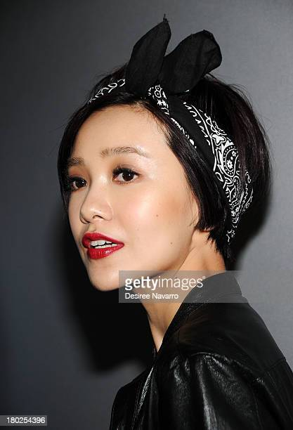 Singer/actress Guo Cai Jie attends the Diesel Black Gold show during Spring 2014 MercedesBenz Fashion Week at Vanderbilt Hall at Grand Central...