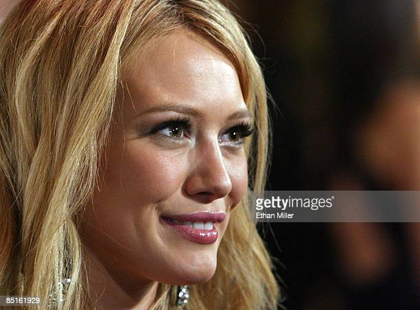 Singer/actress Hilary Duff arrives at the Bellagio for the 13th annual Keep Memory Alive Foundation Power of Love gala to benefit the Cleveland...