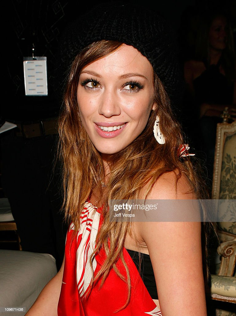 Singer/actress Hilary Duff inside the Teen Vogue Young Hollywood Party at Vibiana on September 20, 2007 in Los Angeles, California.