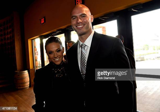 Singer/actress Jana Kramer and professional football player Mike Caussin attend the 16th Annual Nashville Best Cellars Dinner hosted by the TJ...