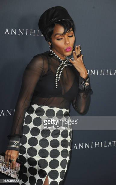 Singer/actress Janelle Monae arrives for the Premiere Of Paramount Pictures' Annihilation held at Regency Village Theatre on February 13 2018 in...
