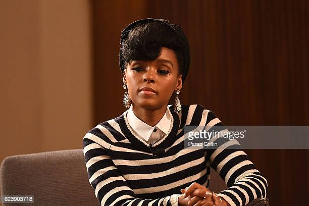 Singer/actress Janelle Monae attends Hidden Figures Q A Discussion at Spelman Convocation at Spelman College on November 17 2016 in Atlanta Georgia