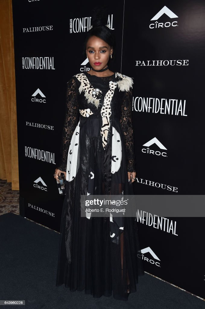 Singer/actress Janelle Monae attends Los Angeles Confidential Magazine and CIROC Ultra-Premium Vodka celebrate the Spring Oscars issue with Janelle Monae at Palihouse West Hollywood on February 22, 2017 in West Hollywood, California.