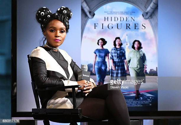 """Singer/actress Janelle Monae visits AOL BUILD to discuss the film """"Hidden Figures"""" at AOL HQ on December 20, 2016 in New York City."""