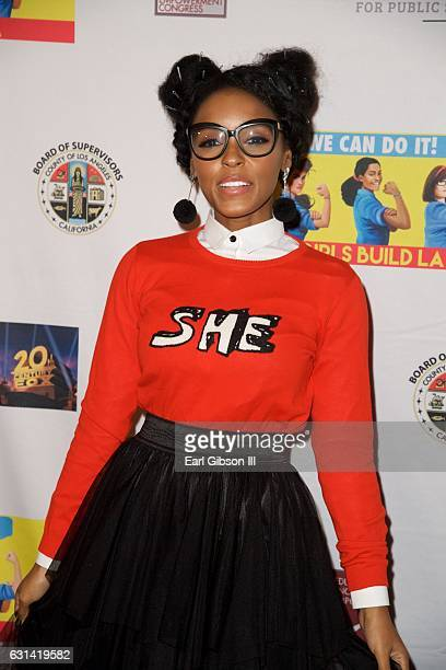 Singer/Actress Janelle Monáe attends the LA Promise Fund Screening Of 'Hidden Figures' at USC Galen Center on January 10 2017 in Los Angeles...