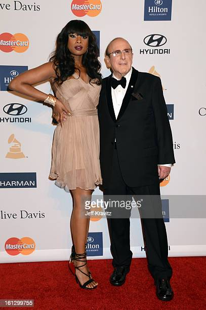Singer/actress Jennifer Hudson and Chief Creative Officer of Sony Music Entertainment Clive Davis arrive at Clive Davis and The Recording Academy's...