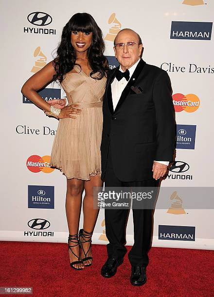 Singer/actress Jennifer Hudson and Sony Music Entertainment CCO Clive Davis arrive at the 55th Annual GRAMMY Awards PreGRAMMY Gala and Salute to...