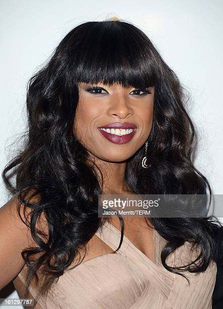 Singer/actress Jennifer Hudson arrives at Clive Davis The Recording Academy's 2013 PreGRAMMY Gala and Salute to Industry Icons honoring Antonio LA...