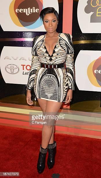 Singer/Actress Jennifer Hudson arrives at the 2013 BET Soul Train Awards at the Orleans Arena on November 8 2013 in Las Vegas Nevada