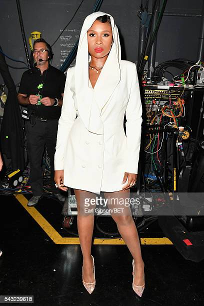 Singer/actress Jennifer Hudson attends the 2016 BET Awards at the Microsoft Theater on June 26 2016 in Los Angeles California