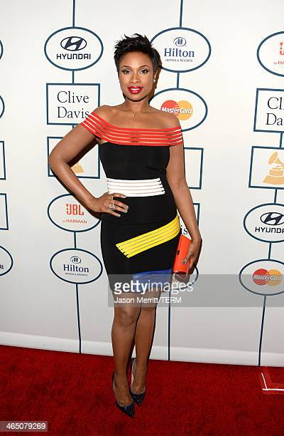 Singer/actress Jennifer Hudson attends the 56th annual GRAMMY Awards PreGRAMMY Gala and Salute to Industry Icons honoring Lucian Grainge at The...