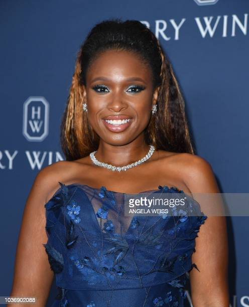 US singer/actress Jennifer Hudson attends the 'New York Collection' by Harry Winston event at The Rainbow Room on September 20 2018 in New York City
