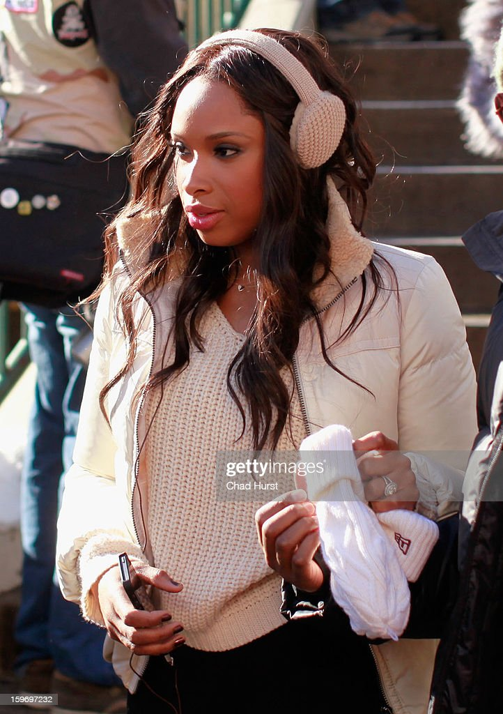 Singer/actress Jennifer Hudson is seen on the street on January 18, 2013 in Park City, Utah.