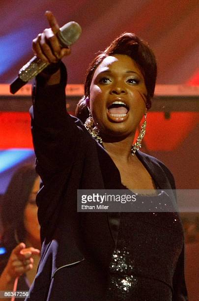 Singer/actress Jennifer Hudson performs at The Pearl concert theater at the Palms Casino Resort May 1 2009 in Las Vegas Nevada
