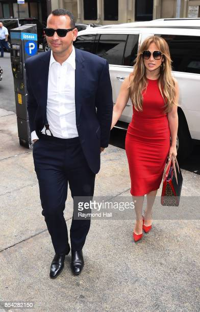 Singer/Actress Jennifer Lopez and Alex Rodriguez are seen in Midtown on September 26 2017 in New York City