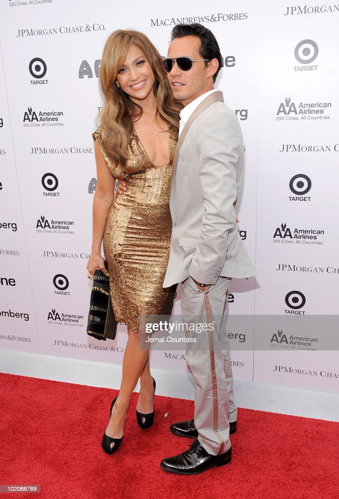 Singer\actress Jennifer Lopez and singer Marc Anthony attend the 2010 Apollo Theater Spring Benefit Concert & Awards Ceremony at The Apollo Theater on June 14, 2010 in New York City.