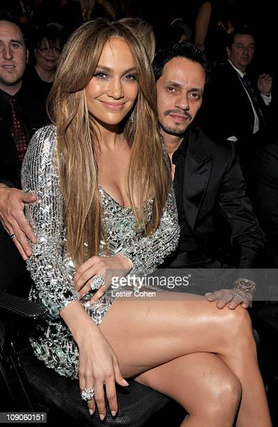 Singer/actress Jennifer Lopez and singer Marc Anthony attend The 53rd Annual GRAMMY Awards held at Staples Center on February 13 2011 in Los Angeles...