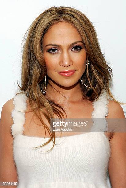 """Singer/actress Jennifer Lopez appears on MTV's Total Request Live to promote her new CD """"Rebirth"""" at MTV Studios March 1, 2005 in New York City."""