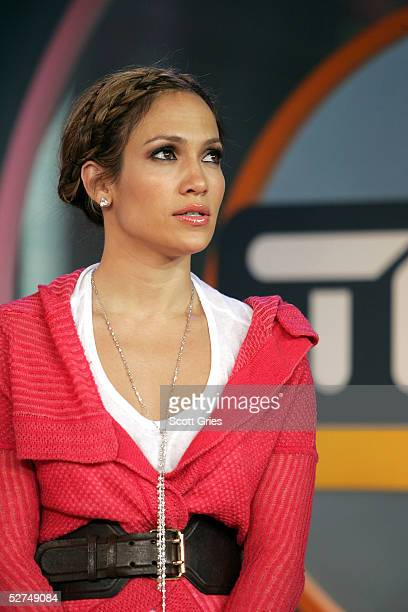 Singer/actress Jennifer Lopez appears onstage during MTV's Total Request Live at the MTV Times Square Studios on May 2 2005 in New York City
