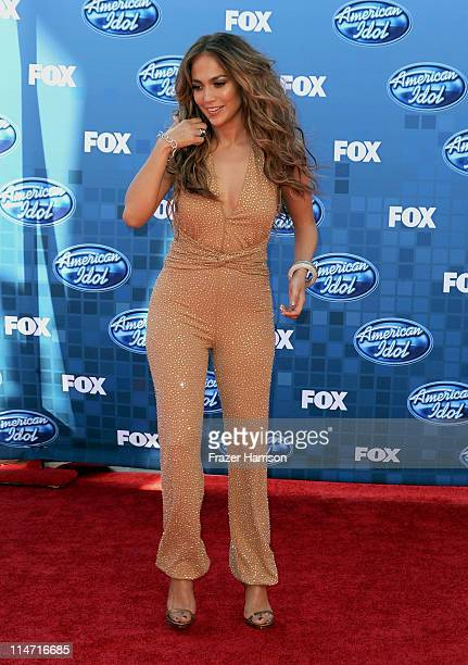 Singer/actress Jennifer Lopez arrives at Fox's American Idol season 10 finale results show held at Nokia Theatre LA Live on May 25 2011 in Los...