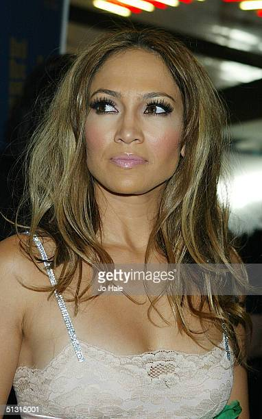 SEPTEMBER 15 Singer/actress Jennifer Lopez arrives at the 2004 World Music Awards at the Thomas Mack Centre on September 15 2004 in Las Vegas