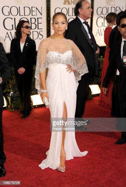 Singer/actress Jennifer Lopez arrives at the 68th Annual Golden Globe Awards held at The Beverly Hilton hotel on January 16 2011 in Beverly Hills...