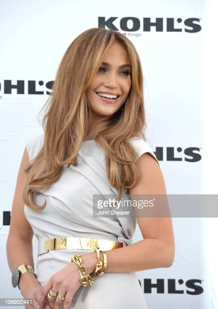 Singer/actress Jennifer Lopez at the Jennifer Lopez and Marc Anthony announcement to Launch Two Exclusive Lifestyle Brands at Kohl�s Department...