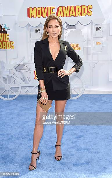 Singer/actress Jennifer Lopez attends The 2015 MTV Movie Awards at Nokia Theatre LA Live on April 12 2015 in Los Angeles California
