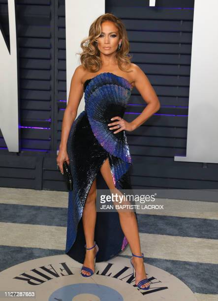 Singer/actress Jennifer Lopez attends the 2019 Vanity Fair Oscar Party following the 91st Academy Awards at The Wallis Annenberg Center for the...