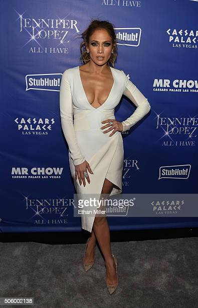 Singer/actress Jennifer Lopez attends the after party for her residency JENNIFER LOPEZ ALL I HAVE and the grand opening of MR CHOW at Caesars Palace...
