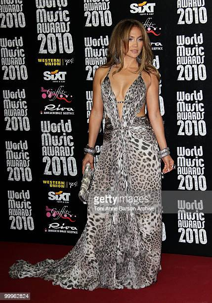 Singer/actress Jennifer Lopez attends the World Music Awards 2010 at the Sporting Club on May 18 2010 in Monte Carlo Monaco