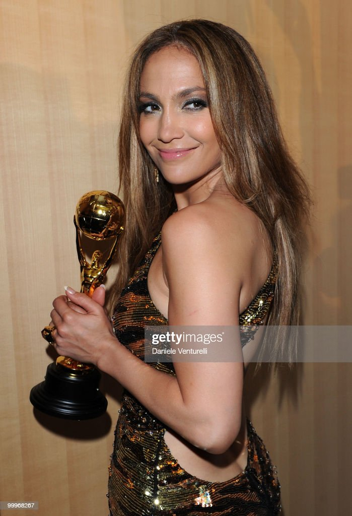 Singer/actress Jennifer Lopez backstage during the World Music Awards 2010 at the Sporting Club on May 18, 2010 in Monte Carlo, Monaco.