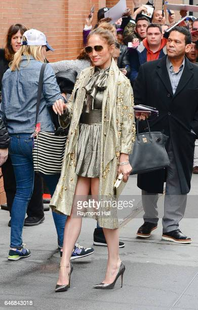 Singer/Actress Jennifer Lopez is seen outside the View on March 1 2017 in New York City