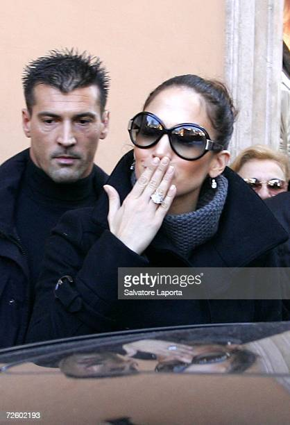 Singer/actress Jennifer Lopez leaves the Dior boutique in central Rome following the wedding of Katie Holmes and Tom Cruise on November 19 2006 in...