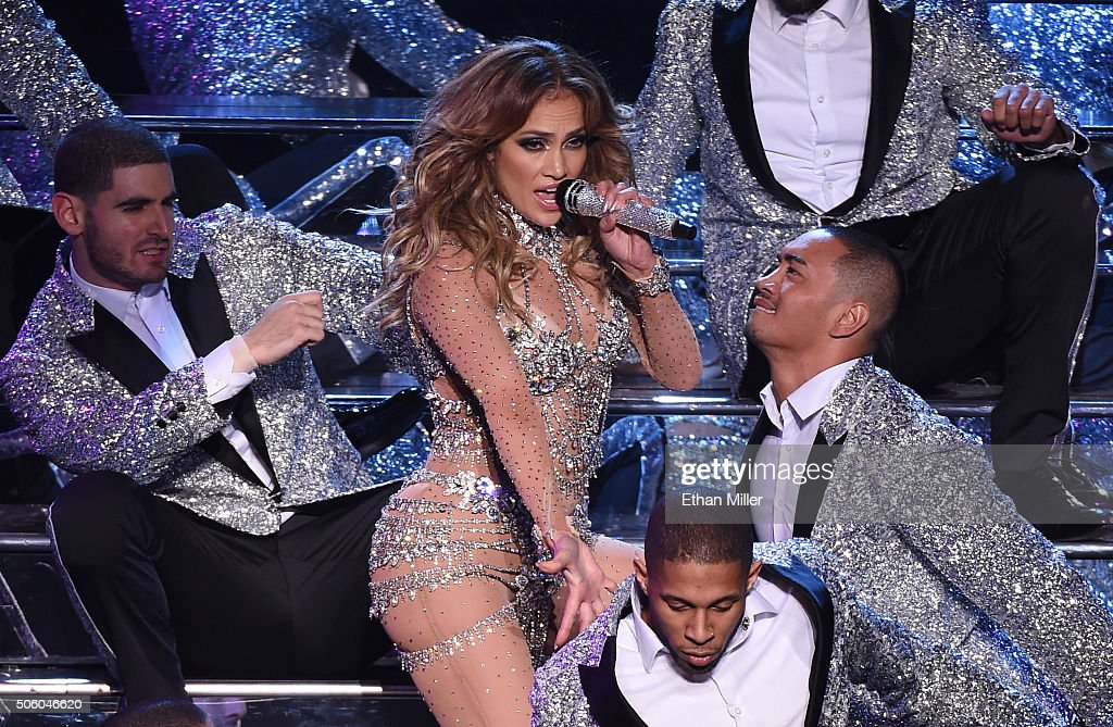 "Jennifer Lopez Launches ""JENNIFER LOPEZ: ALL I HAVE"" At Planet Hollywood In Las Vegas - Show : News Photo"