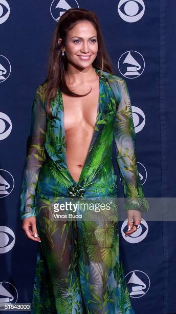 Singer/actress Jennifer Lopez poses for photographers at the 42nd Annual Grammy Awards at the Staples Center in Los Angeles 23 February 2000 AFP...