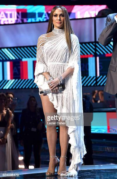 Singer/actress Jennifer Lopez speaks onstage during The 17th Annual Latin Grammy Awards at TMobile Arena on November 17 2016 in Las Vegas Nevada